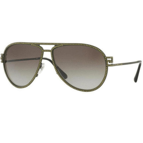 Versace Sunglasses  Aviator Frames Grey Gradient Lens