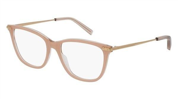 Boucheron Eyeglass - Square Shape Nude Gold Color Eyeglass BC0037O 003 52MM