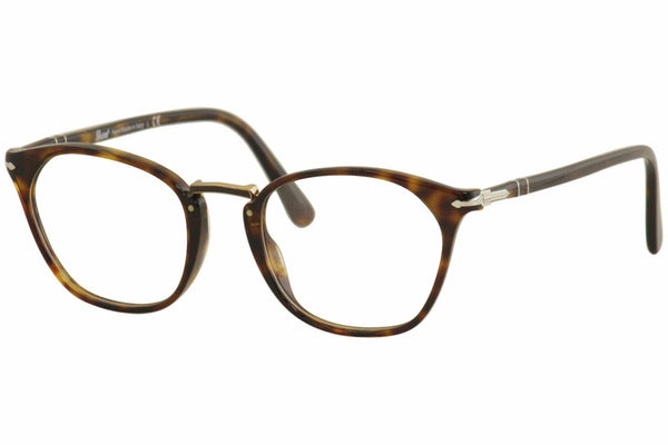 Persol Eyeglass - PO3209V 24 50 Square Style - Havana Plastic frame with Demo Lens