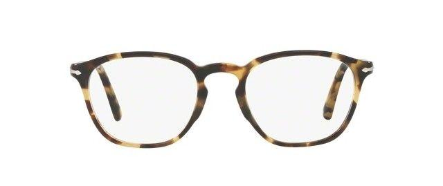 Persol Eyeglass PO3178V 1056 Rectangle Style | Beige/Tortoise Frame & demo Lens