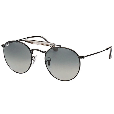 Ray Ban Round Style Sunglasses W/Grey Gradient Lens