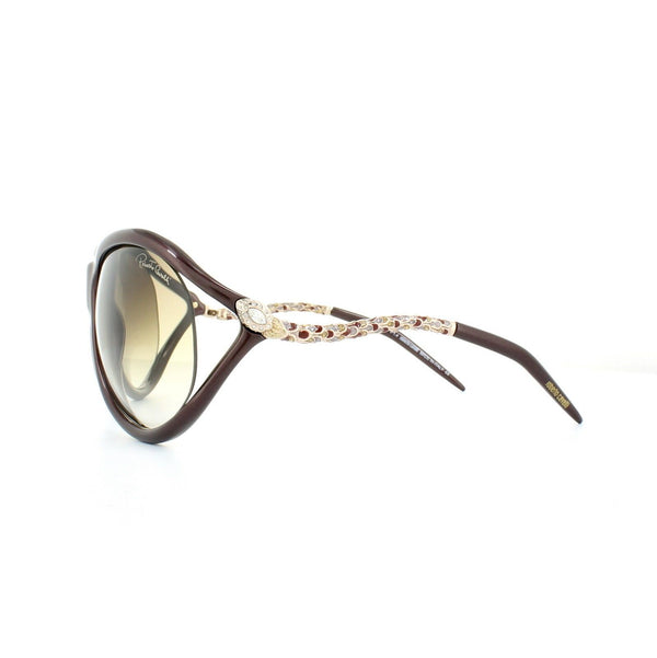 Roberto Cavalli Sunglasses Women Oval Frame Brown Gradient Lens