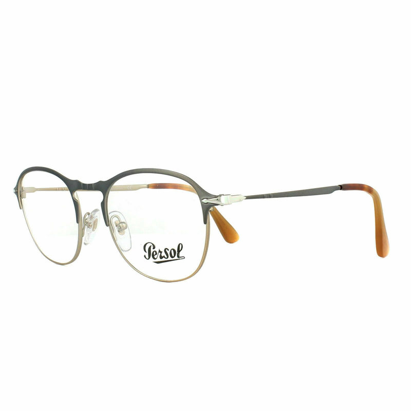 Persol Eyeglass PO7007V 1071 49 Square Style | Grey Light Brown with Demo lens