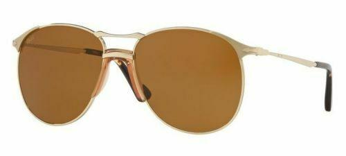 Persol Sunglass PO2649S 1076/33 55MM Aviator Style | Gold Frame Color Brown lens