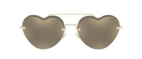 Miu Miu FOREVER IN LOVE MU62US ZVN1C0 58 Pale Gold/Brown Gold Mirror Sunglasses