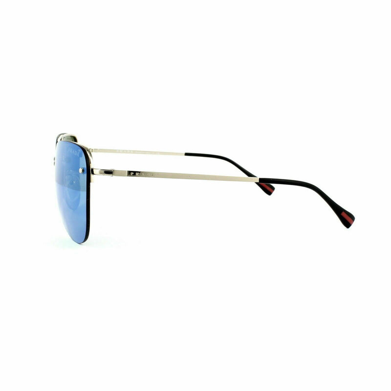 Prada Linea Rossa PS53RS ZVN5M2  Spectrum Aviator Sunglasses Pale Gold Blue Mirr