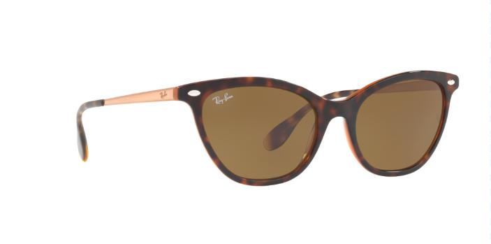Ray-Ban RB4360 123373 54 Tortoise Brown/Bronze Copper w/Brown Classic Women
