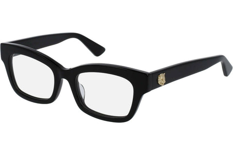 Gucci Rectangular Style Black Eyeglasses W/Demo Lens