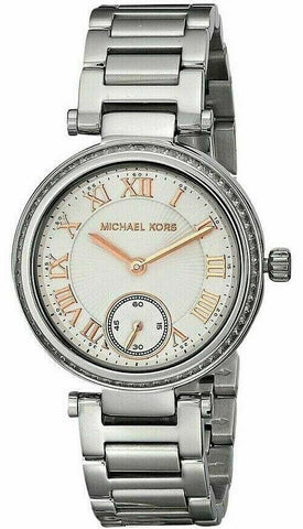New Michael Kors MK5970 Women's Mini Stainless Rose Gold-Tone Dial 33mm Watch