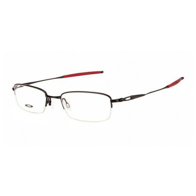 Oakley Eyeglass Rectangular Style Polished Black/Red frame Color Demo Lens - OX3133-0751 51MM