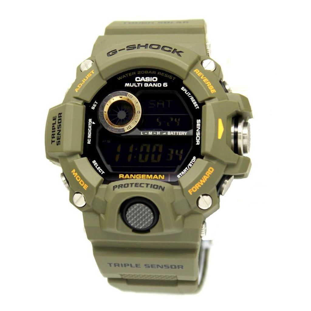 Casio G-Shock GW-9400-3D Men Resin Strap Mineral Glass Shock Resistant Watch