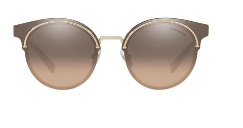 Tiffany & Co. Sunglasses TF3061 60213D 64 Pale Gold Brown / Silver Mirror