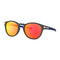 Oakley Sunglass - Latch Oval Style Prizm Ruby Mirrored Lens OO9265-3753