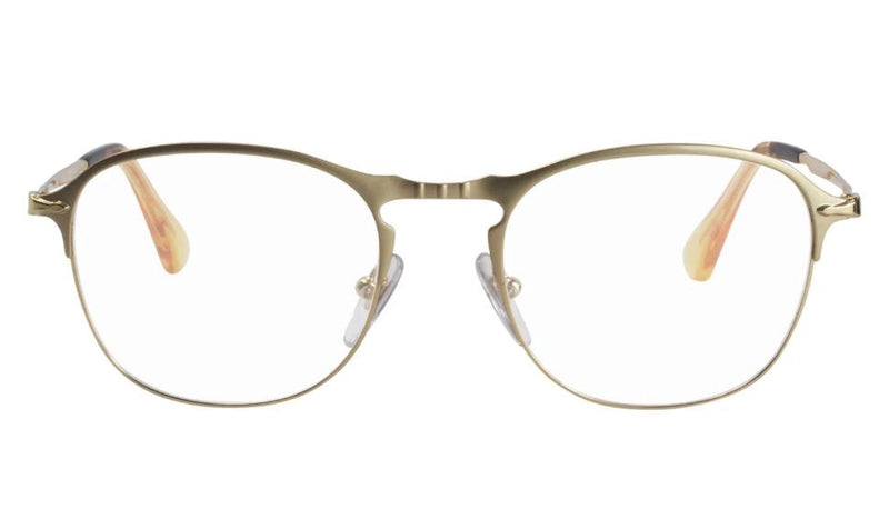 Persol Eyeglass - PO7007V 1069 51 Square Style - Matte Gold With Demo Lens