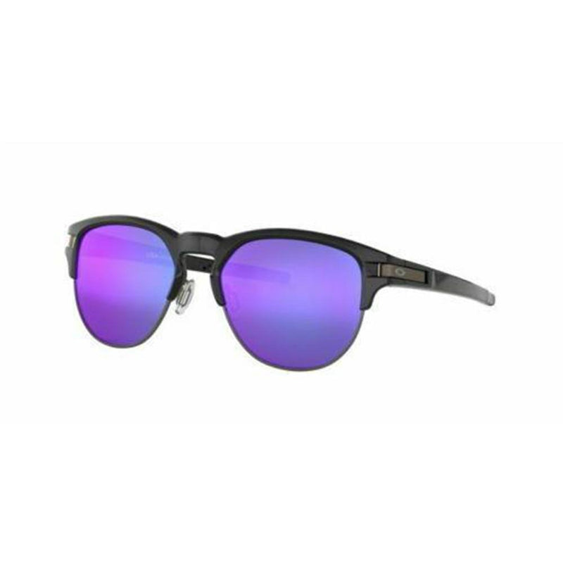 Oakley Sunglass Latch Key Round Style Polished Black Color Violet Iridium Lens -  OO9394M 0152