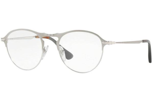 Authentic Persol PO7092V 1068 50  Eyeglasses Matte Silver / Silver *NEW* 50mm