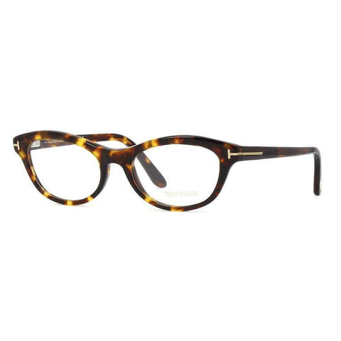 Tom Ford FT 5423 052 Dark Havana Plastic Cat-Eye Eyeglasses 53mm