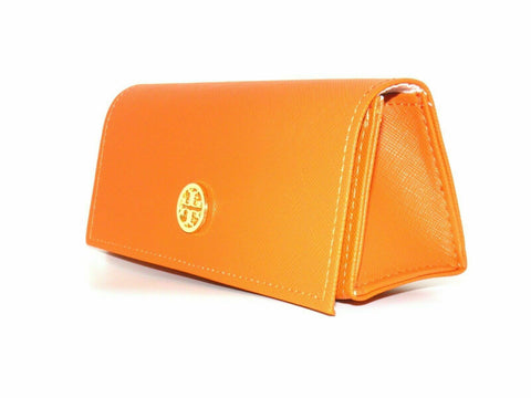 Tory Burch Large Orange Sunglasses Eyeglasses magnetic button Sunglass case