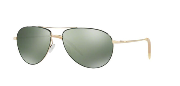Oliver Peoples Sunglass Aviator Style Gold frame Color Polarized Lens | Ov1002S