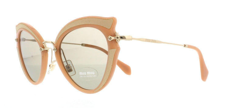 Miu Miu Sunglass - MU05SS VHZ 5J2 52MM - Cat Eye Style Light Brown Lens