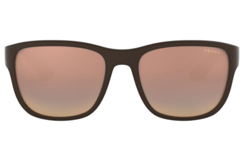 Prada Linea Rossa PS01US VYY2D2 59 Sunglasses Brown Rubber *NEW* 59mm