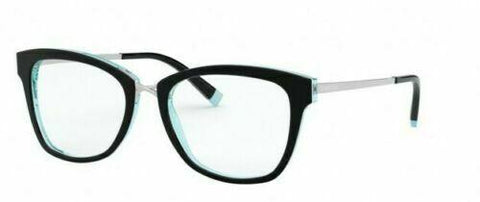 Tiffany & Co. TF 2186F Eyeglasses Black Silver Turquoise 8274 Authentic 52mm