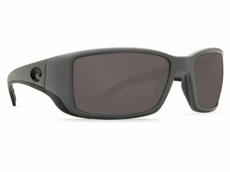 Costa Del Mar Sunglass - Blackfin BL-98-OGGLP - Rectangular Style W/Gray Mirrored Polarized 580G Lens