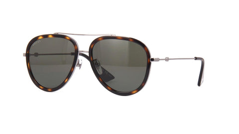 Gucci GG0062S 002 AVIATOR RUTHENIUM GREEN 57 mm Women's Sunglasses