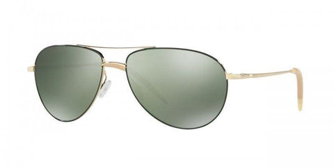 Oliver Peoples OV1002S 503509 59M Benedict Enamel Aviator Sunglasses Gold Green