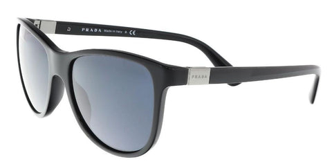Prada Men Cat Eye Sunglasses Black Frame Grey PR20SS 1AB0A9 56mm