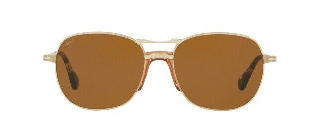 Persol Sunglass - PO2449S 107633 56MM Square Shape Gold Frame Sunglass