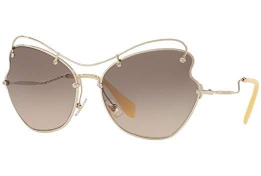 Miu Miu Sunglasses Butterfly Style Light Brown Grey Gradient Lens