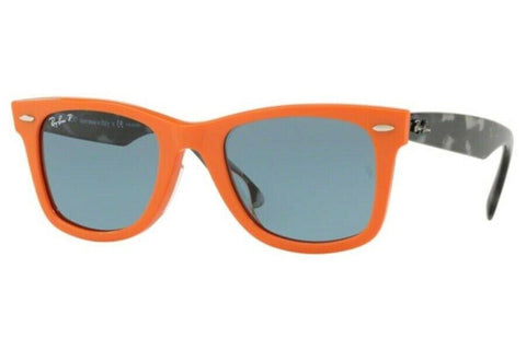 Ray Ban Square Style Sunglasses W/Blue Polarized Lens