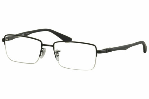 Ray-Ban Men's Eyeglasses RB6263 RB/6263 2509 54 Shiny Black RayBan Optical Frame