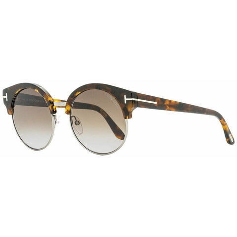 Tom Ford Round Sunglasses TF608 Alissa-02 55Z Vintage Havana  54mm FT0608