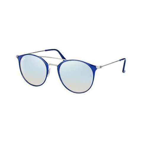 New Ray Ban RB3546 90109U 52MM Ruthenium Blue Mens Womens Sunglasses Glasses