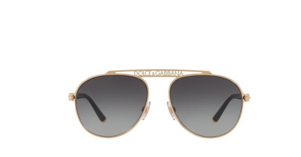 Sunglasses Dolce & Gabbana Authentic DG2235 Gold Grey Faded 02/8G