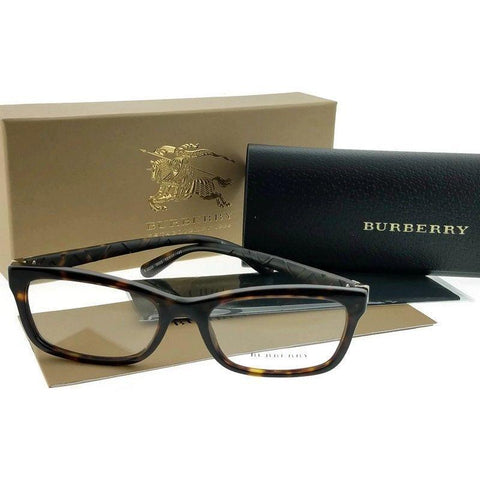 Burberry Eyeglasses Women Rectangle Frame Demo Lens