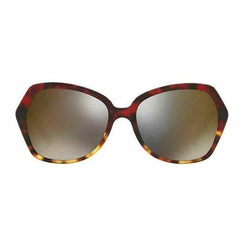 Burberry Sunglasses BE4193 3664 Butterfly Style Red Havana Light Dark Grey Gold