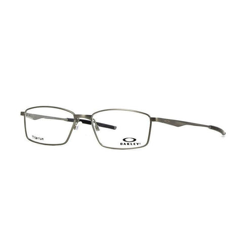 Oakley Eyeglasses Rectangular Style Chrome Frame & Demo Lens