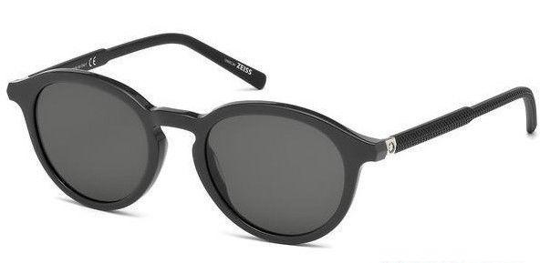 Mont Blanc MB608S 20A 49MM Unisex Sunglasses Black Frame Dark Grey Lens