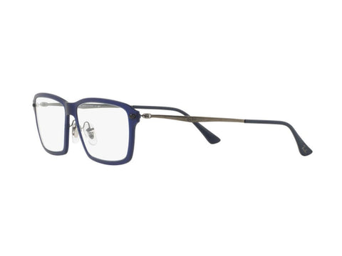 Ray-Ban LightRay TITANIUM Frames RX7038 5451 55mm Authentic Eyeglasses Blue