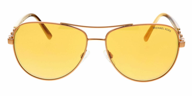 Michael Kors Sunglass Sabina III Aviator Style Orange Lens - Women Sunglass MK5014 10915N 58
