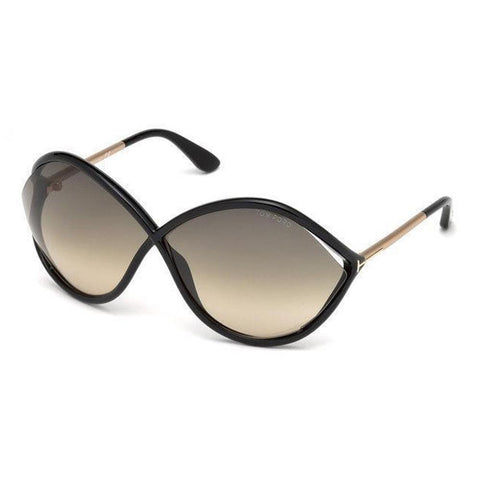 Tom Ford Sunglasses Liora Oversize Style Grey Gradient Lens