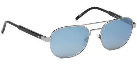 New Montblanc Sunglasses MB602S 01A Gunmetal / Light Mirrored Blue 55 mm