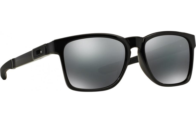 Oakley Sunglass Catalyst Square Black Iridium Lens - Unisex Sunglass Polished Black Frame OO9272-02