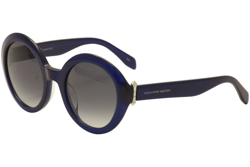 Alexander McQueen Sunglass Round Style with Grey Gradient Lens  AM0002S 003