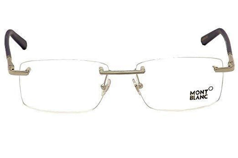 New Mont Blanc MB0579 A16 Silver Eyeglasses Optical Frame W/Case MB579 57-17