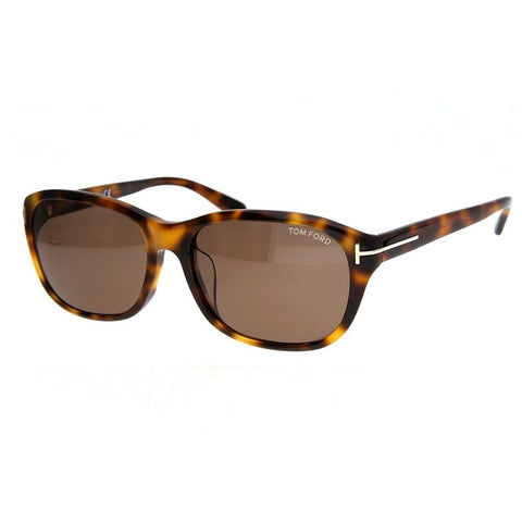 Tom Ford Sunglass - Square Shape Light Havana Freme Sunglass - FT0396 52J 60MM