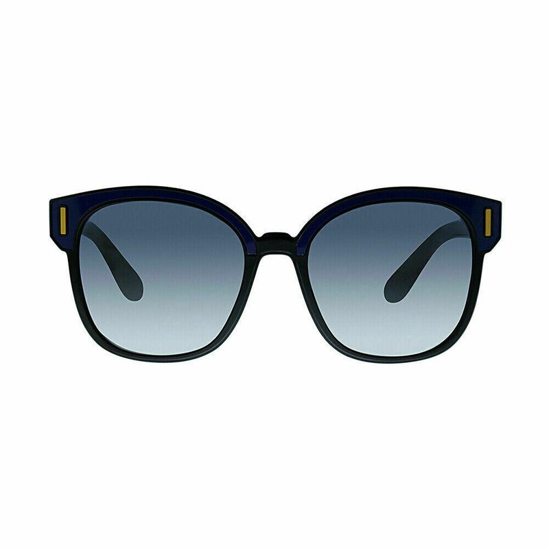Prada Catwalk PR 05US SUI3A0 53 Black Blue Plastic Sunglasses Blue Gradient Lens